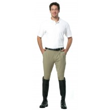 Ovation® EuroWeave™ Front Zip Pleated Four Pocket Knee Patch Breech - Men's