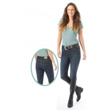 Ovation® Stretch Denim Euro Seat Knee Patch Breeches - Ladies'
