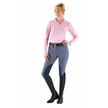 Ovation® Taylored Zip Front Knee Patch Euro Seat Breeches