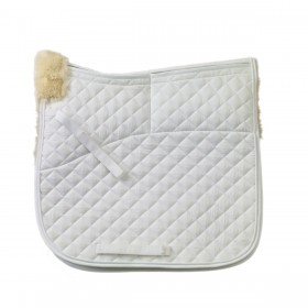 Tekna® 4-Shim Synthetic Sheepskin Square Dressage Pad