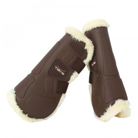 Tekna® Sheep-Tek™ Sheepskin Open Front Jumping Boots with Quik-Close™ Straps