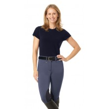 Ovation® Teen Celebrity EuroWeave™ DX Euro Seat Front Zip Knee Patch Breech