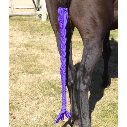Horse Lycra Stretch Tail Bag In PURPLE
