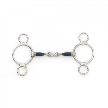 Centaur® Blue Steel 2 Ring French Link Gag